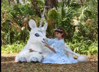 creaturiffic, live unicorn, princess, garden,